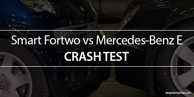 Crash Teste Smart vs Mercedes