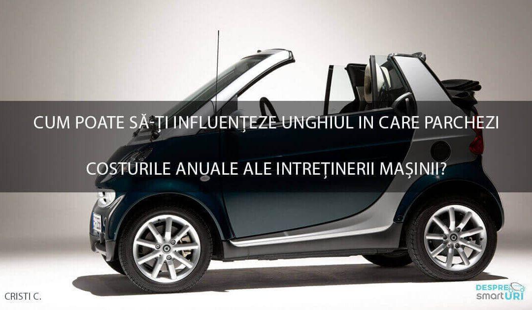 Cum poate sa-ti influenteze unghiul in care parchezi costurile anuale ale intretinerii masinii?